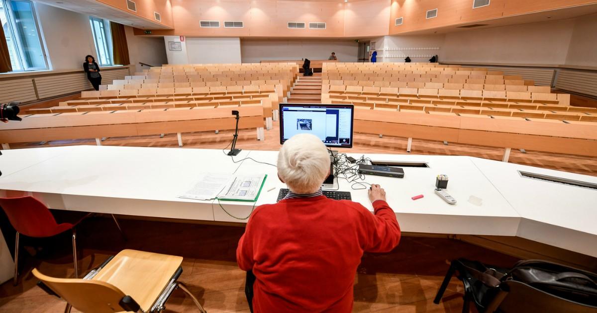Insegnamento online attraverso webcam
