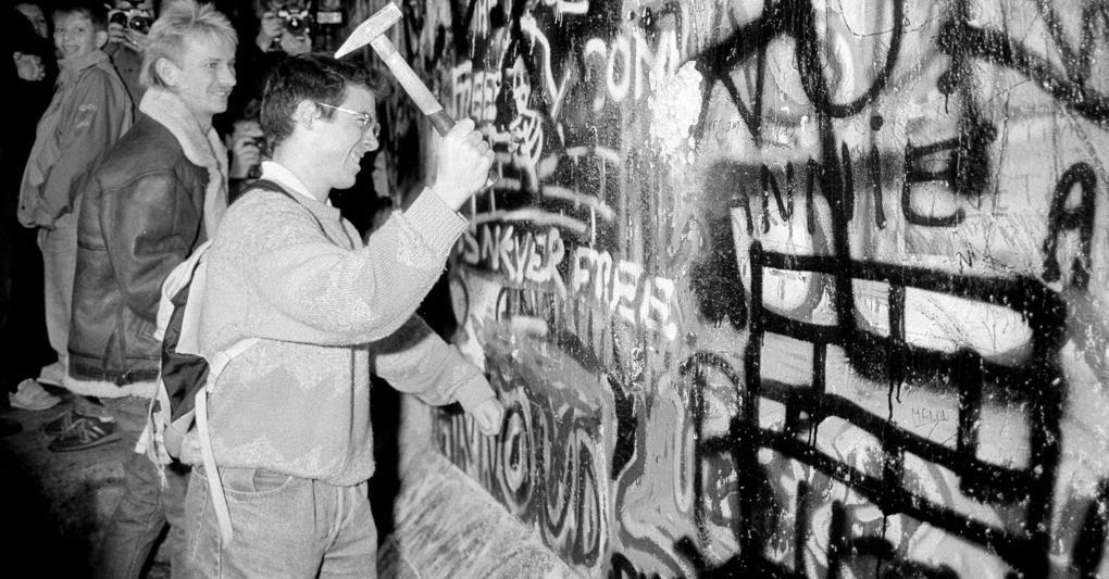 La demolizione del muro di Berlino