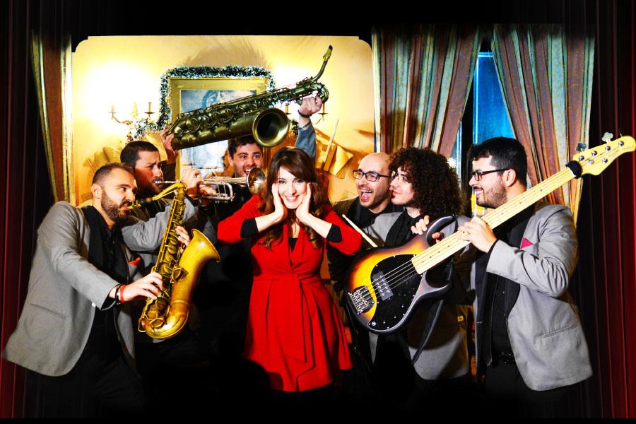 La SaxObar Swing&Soul Orchestra al completo