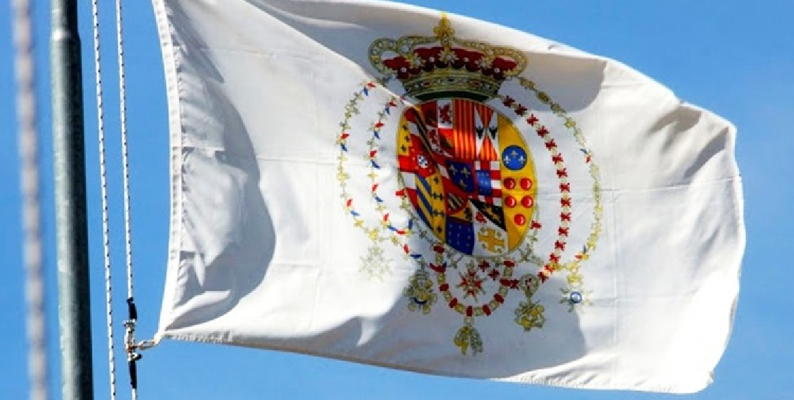 Una bandiera borbonica