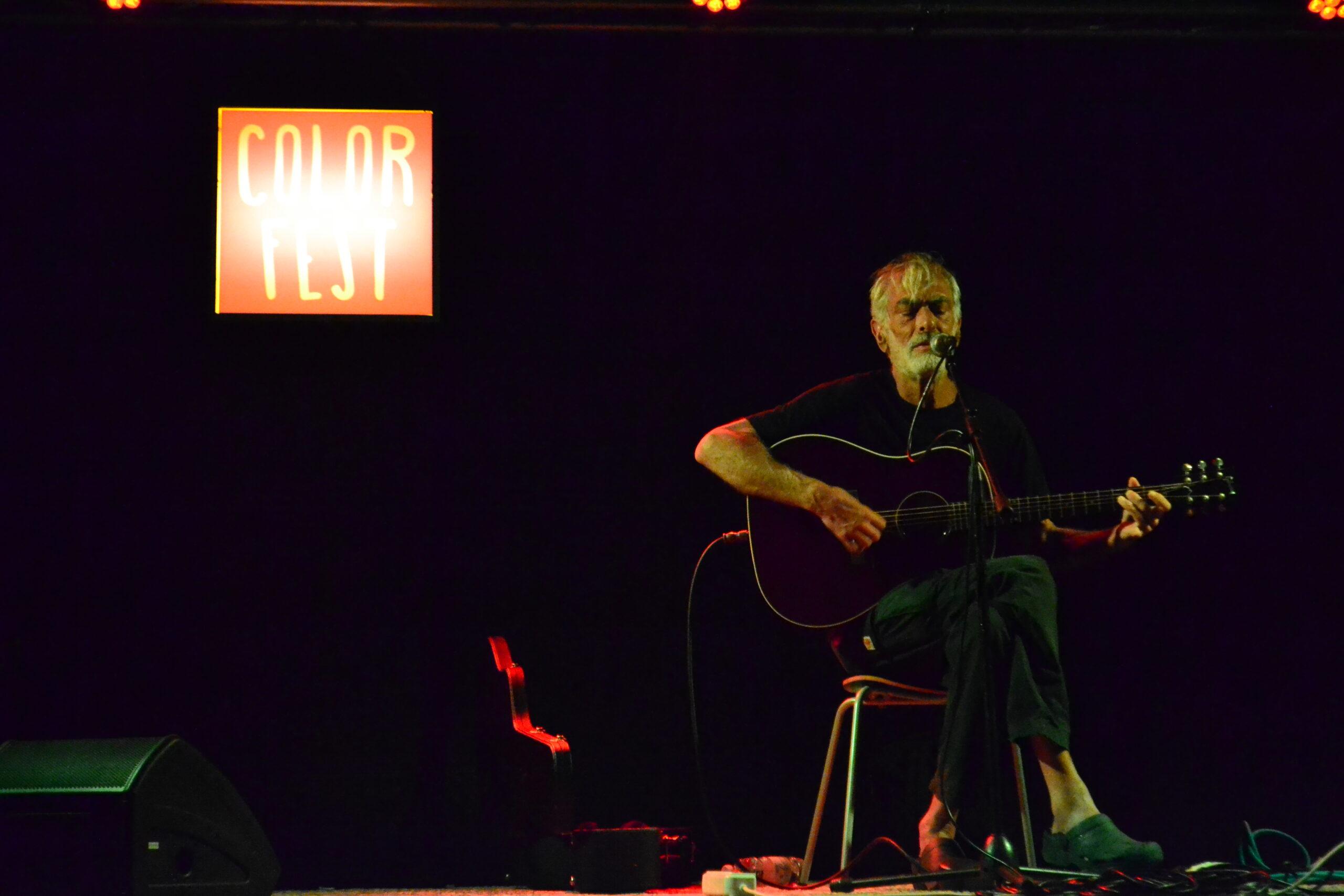 Flavio Giurato sul palco
